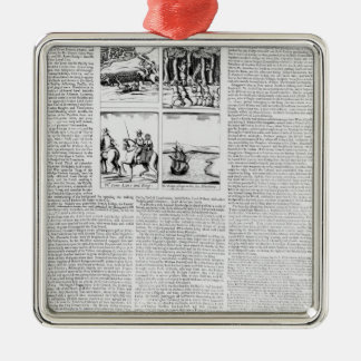 The history of the Battle of Worcester Metal Ornament