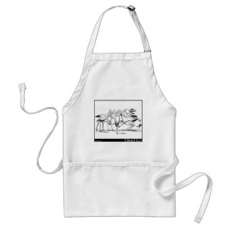 The History of the Seven Young Storks Adult Apron