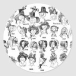 The History of Women's Hats Classic Round Sticker