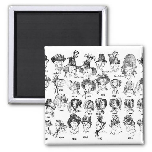 The History of Women's Hats Refrigerator Magnet