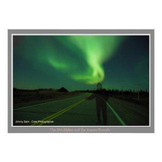 The Hitchhiker and the Aurora Borealis Posters