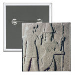 The Hittite God Uomi, Karkemish 2 Inch Square Button