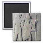 The Hittite God Uomi, Karkemish 2 Inch Square Magnet