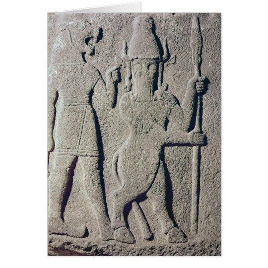 The Hittite God Uomi, Karkemish Card