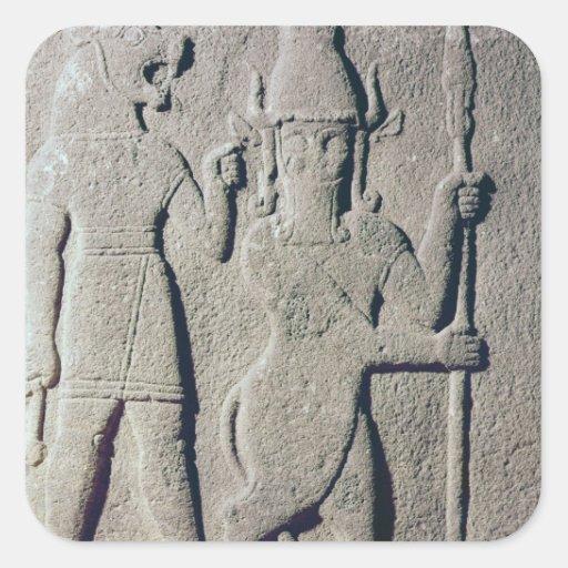 The Hittite God Uomi, Karkemish Square Sticker