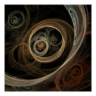 The Hive - Abstract Fractal Art poster
