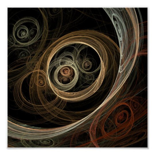The Hive Abstract Fractal Art Poster