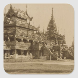 The Hman Kyaung or the glass monastery, Burma Square Sticker