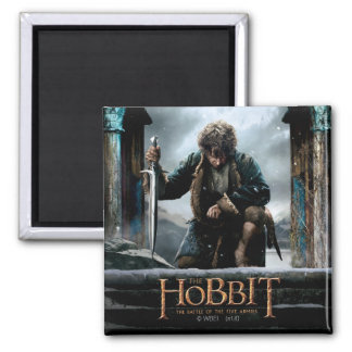 The Hobbit - BILBO BAGGINS™ Movie Poster 2 Inch Square Magnet
