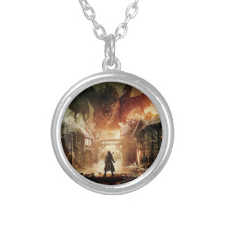 The Hobbit - Laketown Movie Poster Silver Plated Necklace