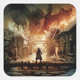 The Hobbit - Laketown Movie Poster Square Sticker