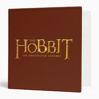 The Hobbit Logo Gold Binder