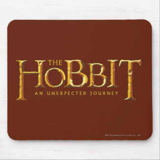 The Hobbit Logo Gold Mouse Pad