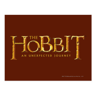 The Hobbit Logo Gold Post Cards