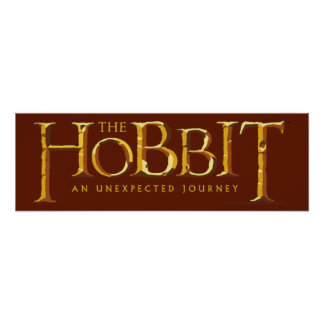 The Hobbit Logo Gold Poster