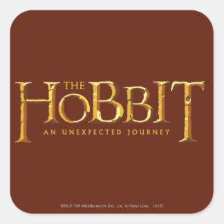 The Hobbit Logo Gold Square Sticker