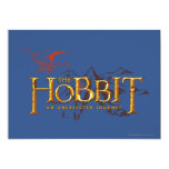 The Hobbit Logo Over Mountains 5x7 Paper Invitation Card