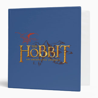 The Hobbit Logo Over Mountains Binder