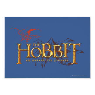 The Hobbit Logo Over Mountains Card