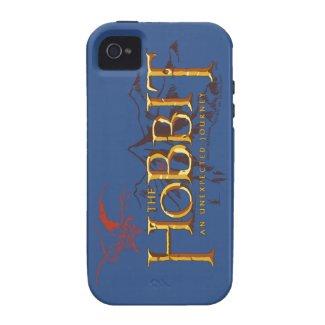 The Hobbit Logo Over Mountains Tough iPhone 4 Cover