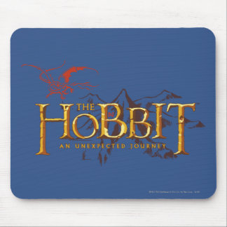 The Hobbit Logo Over Mountains Mouse Pad