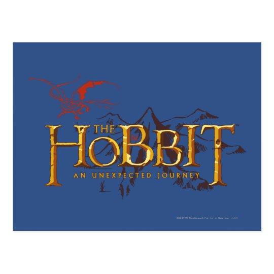 The Hobbit Logo Over Mountains Postcard
