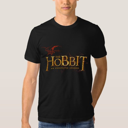 The Hobbit Logo Over Mountains T-shirts