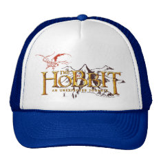 The Hobbit Logo Over Mountains Trucker Hat at Zazzle