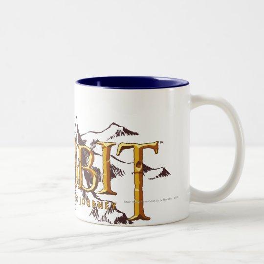The Hobbit Logo Over Mountains Two-Tone Coffee Mug