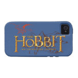 The Hobbit Logo Over Mountains Vibe iPhone 4 Case