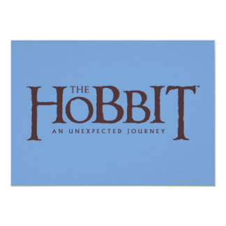The Hobbit Logo Solid Card