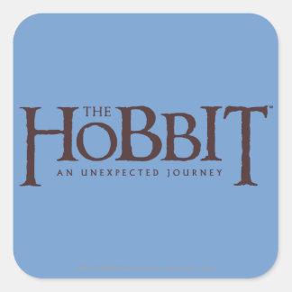 The Hobbit Logo Solid Square Sticker