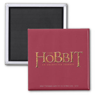 The Hobbit Logo Textured Magnet