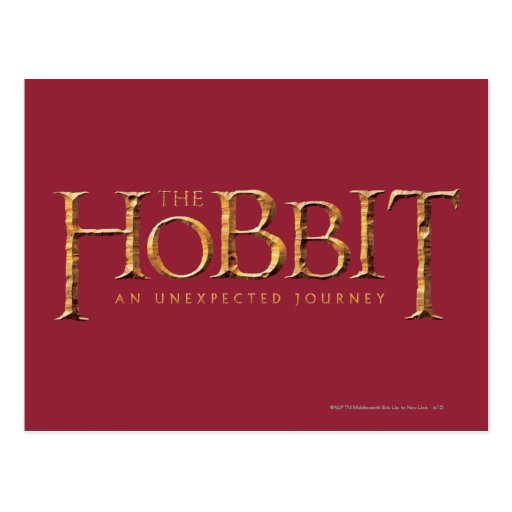 The Hobbit Logo Textured Post Cards