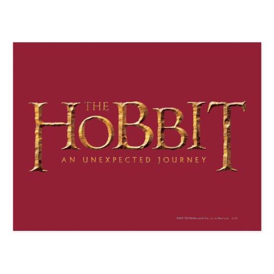 The Hobbit Logo Textured Postcard