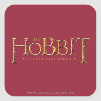 The Hobbit Logo Textured Square Sticker