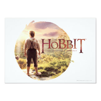 """The Hobbit Logo with BAGGINS™ Back 5"""" X 7"""" Invitation Card"""