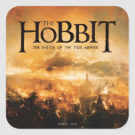 The Hobbit: The Battle of the Five Armies Logo Square Sticker
