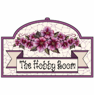"""""""The Hobby Room"""" - Decorative Sign - 24 Statuette"""