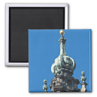 The hofkirche (Church of the Court) Dresden 2 2 Inch Square Magnet