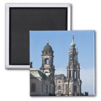 The hofkirche (Church of the Court) Dresden 2 Inch Square Magnet