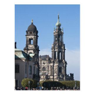 The hofkirche (Church of the Court) Dresden Postcard