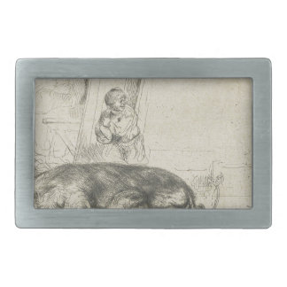 The hog by Rembrandt Belt Buckle