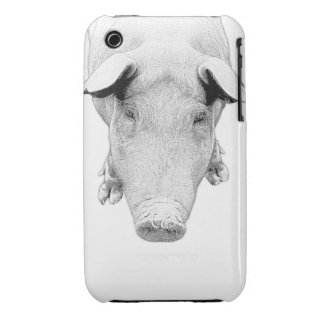 The Hog in Black and White Case-Mate iPhone 3 Cases