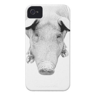 The Hog in Black and White iPhone 4 Case-Mate Cases