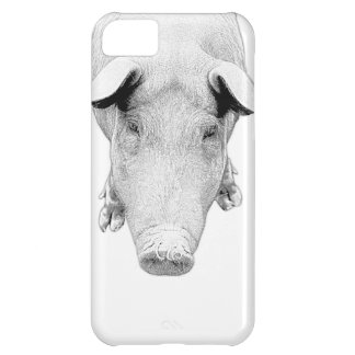 The Hog in Black and White Case For iPhone 5C