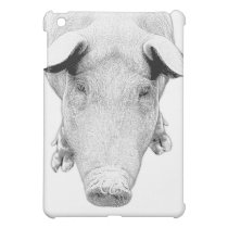 The Hog in Black and White iPad Mini Cover