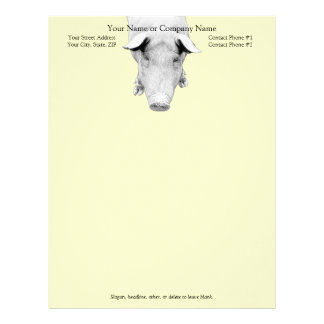 The Hog in Black and White Letterhead