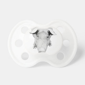 The Hog in Black and White Pacifier