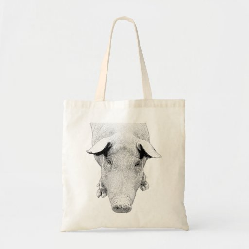 The Hog in Black and White Tote Bag